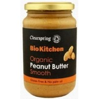 Clearspring Org Peanut Butter Smooth 350 g (order 6 for trade outer) / クリアスプリング組織ピーナッツバタースムース350グラム...