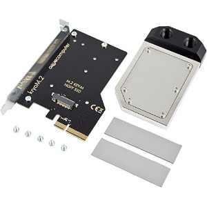 Aquacomputer kryoM.2 PCIe 3.0 x4 adapter for M.2 NGFF PCIe SSD, M-Key with nickel plated water block