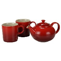 Le Creuset ルクルーゼ ティーポット & マグ(2個)セット Cherry Red チェリーレッド Le Creuset ル・クルーゼ
