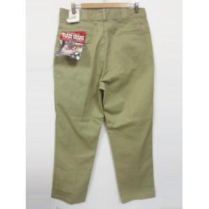Deadstock Dickies/ディッキーズ ワークパンツ カーキ Made in U.S.A 【W35 L33】【フラッシャー付き】【スケーター】【あす楽対応】【古着 mellow楽天市場店】