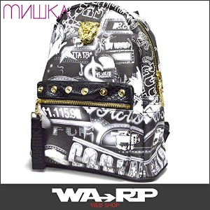 ミシカ MISHKA上海 DEATH ADDERS GOLD FACE ALL OVER BACKPACK(BLACK)