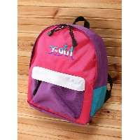 【SALE/30%OFF】X-girl Stages LOGO COLORFUL BACKPACK エックスガールステージス バッグ【RBA_S】【RBA_E】【送料無料】