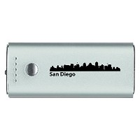 San Diego, カリフォルニア-Portable Cell Phone 5200 mAh Power Bank Charger-シルバー 「汎用品」(海外取寄せ品)