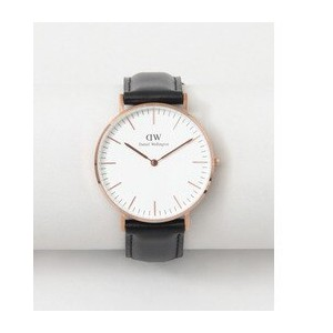 ROSSO Daniel Wellington CLASSIC SHEFFIELD/36【アーバンリサーチ/URBAN RESEARCH レディス 腕時計 ROSE GLD/BLK ルミネ...