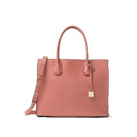 MICHAEL KORS MERCER LARGE BONDED-LEATHER TOTE ANTIQUE ROSE [並行輸入品]