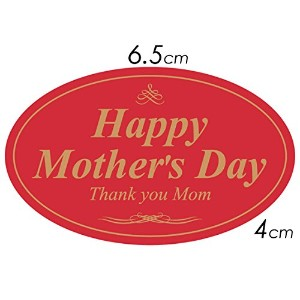 「Happy Mother's Day!」母の日シール ギフトラッピング(300枚入)【k-006】