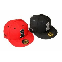 Stussy Chenille No. 1 New Era Cap Red 7 3/4 [並行輸入品]