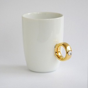 Floyd Cup Ring フロイド カップリング [ White x Gold クリア ]