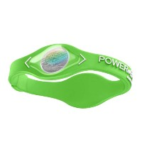 POWER BALANCE(パワーバランス) SILICONE WRISTBAND Lime Green/ White XS 【日本正規品】