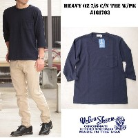 Velvasheen ベルバシーン ヘビーオンス 7分袖TEE MADE IN USA #161703 HEAVY OZ 7/S C/N TEE W/PK 【NAVY/ネイビー】M/L/XL...