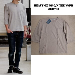 Velvasheen ベルバシーン ヘビーオンス 7分袖TEE MADE IN USA #161703 HEAVY OZ 7/S C/N TEE W/PK 【GREY/グレー】M/L/XL...