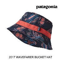 2017 PATAGONIA パタゴニア 帽子 ハット WAVEFARER BUCKET HAT CSRN C STREET NAVY BLUE