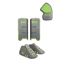 STX フィールド Hockey Deny Youth Goalie セット with Goalie グローブ, Kickers and レッグ Guards, One サイズ, グレー ...