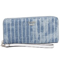 ゲス 財布 GUESS DG653846 KORRY CRUSH SLG LRG ZIP AROUND 長財布 DENIM STRIPE [並行輸入品]