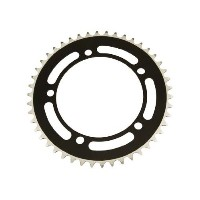 Alloy Chainring 1/2 x 1/8 46t Black. for bicycles, bikes, for ビーチ クルーザー, mountain バイク, トラック, fixies...