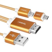 aceyoon Micro USB to HDMI MHL Adapter Android スマホ 対応 MHL to HDMI アダプター 変換ケーブル MHL HDMI 変換コネクタ...