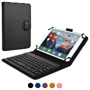 Cooper Cases(TM) Backlight Executive Acer Iconia One 7, 7 HD, 8 タブレット Bluetoothキーボードフォリオ(ブラック)...