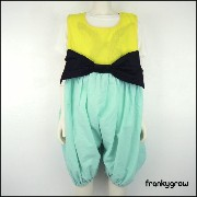 FRANKY GROW ( フランキーグロウ) BIG RIBBON OVERALL DYED サロペット (90-130) 子供服 女の子