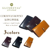 GLENROYAL(グレンロイヤル)/CORDOVAN ROUND LONG PURSE/cordovan × bridle leather