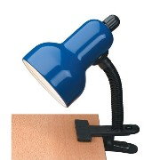 Lite Source LSF-111BLU Clip-on Gooseneck Clamp-on-Lite, Black with Blue Shade [並行輸入品]