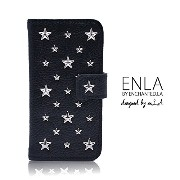 ENLA by enchanted.LA STAR STUDDED NOTEBOOK TYPE LEATHER CASE - iPhone6s iPhone6sPlus iPhone6...