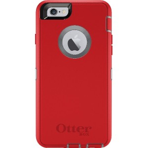 OtterBox iPhone 6/6sケース Defender シリーズ 耐衝撃 Fire Within (Sleet Grey/Scarlet Red) 【OtterBox 公式ブランドストア】