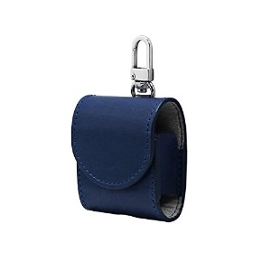 airpods ケース カバー 本革 (NAVY)【HANSMARE ITALY LEATHER AIR PODS CASE】収納バッグ ストラップ 収納 バッグ ポーチ キーホルダー 持ち運び...