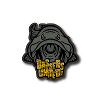 【BASSERS UNITED/バサーズ ユナイテッド】 Fish LOGO Sticker [CAMO] (code:BUM006)