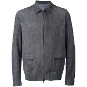 Salvatore Santoro - classic collar zipped jacket - men - レザー - 50