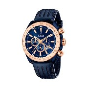 フェスティナ Festina Men's Quartz Watch with Blue Dial Chronograph Display and Blue Leather Strap F16897...