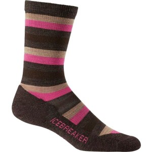アイスブレーカー Icebreaker メンズ インナー ソックス【Lifestyle Light Crew Sock】Earthen Heather/Shocking/Rye Heather