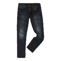 ジースター メンズ ボトムス ジーンズ【G-Star 3301 Siro Black Slim Fit Dark Wash Stretch Jeans】Denim Dark Wash
