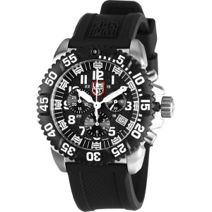 ルミノックス Luminox メンズ アクセサリー 腕時計【Navy Seal Steel Colormark Chronograph 3180 Series Watch】Black/White...