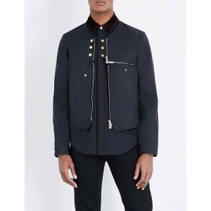 ザ ソリスト the soloist メンズ アウター ジャケット【collarless button-detailed shell jacket】Black