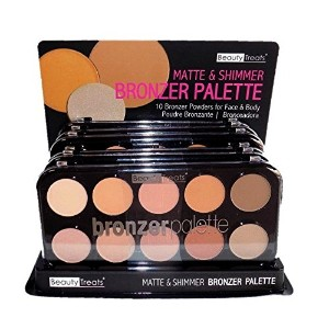 BEAUTY TREATS Matte and Shimmer Bronzing Palette Display Case Set 12 Pieces (並行輸入品)