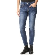 レッド カード RED CARD レディース ボトムス ジーンズ【25th Anniversary Boyfriend Jeans】Akira - Worn Dark