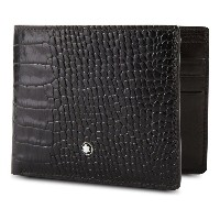 モンブラン montblanc メンズ アクセサリー 財布【meisterstuck 6cc croc-embossed leather wallet】Mocha