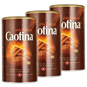 Caotina original, Cocoa Powder with Swiss Chocolate, Hot Chocolate, 3 Pack, 3 x 500g by Caotina ...