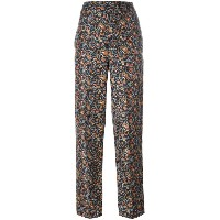 Isabel Marant - foliage print tapered trousers - women - シルク - 36