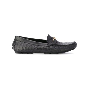 Cesare Paciotti Kids - Teen crocodile effect embossed loafers - kids - ゴートスキン/レザー/rubber - 40