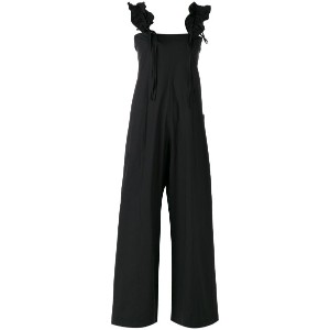 Hache - ruffled detail jumpsuit - women - コットン/スパンデックス - 40