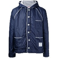Thom Browne - contrast trim rain jacket - men - ポリエステル - 4