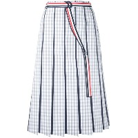 Thom Browne - striped skirt - women - コットン - 42
