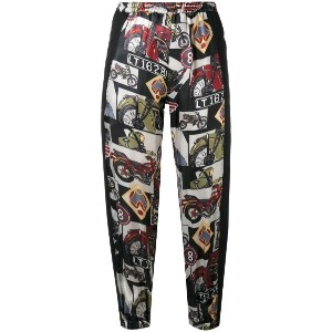 Hache - printed cropped trousers - women - viscose - 38