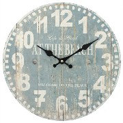 Jones Home and Gift Blue Beach Clock, Multi-Colour by Jones Home and Gift