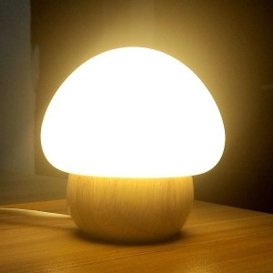 Wooden Table Lamp WL01 / Original Lamp (Wood + Silicone) / Wireless Remote Control Included (16...