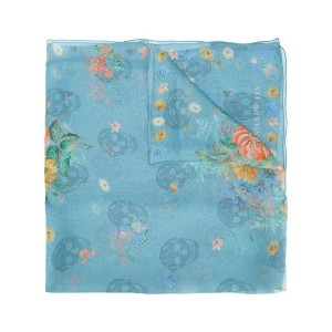Alexander McQueen - floral and skull print scarf - women - シルク - ワンサイズ