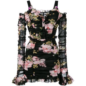 Alessandra Rich - floral print dress - women - シルク/スパンデックス - 42