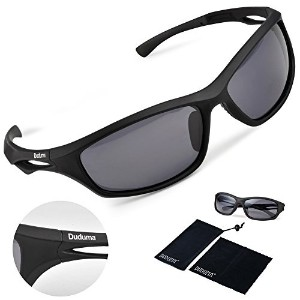 Duduma Polarized Sports Sunglasses for Running Cycling Fishing Golf Tr90 Unbreakable Frame (black...