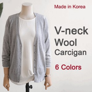 [something]Basic V-Neck Wool Cardigan ★ Direct From Korea/High Quaity/Wome Office Wear/Cardigan